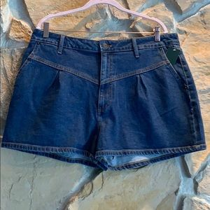 Wild Fable Denim front pleated Shorts